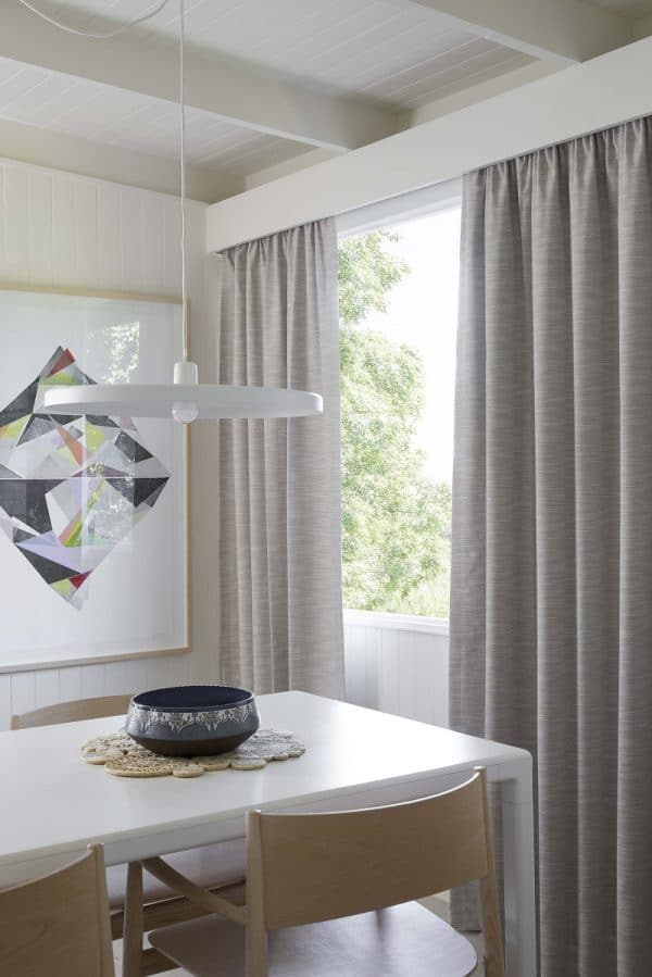 Blockout Curtains with Timbre pelmet in Dining Room