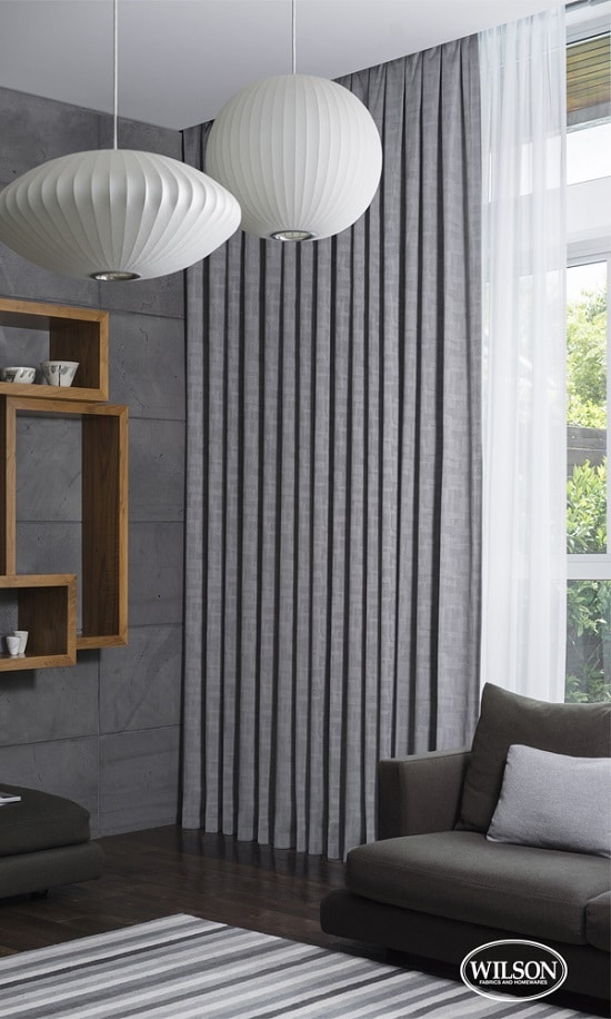 Light Grey Blockout Curtains in a Living Room