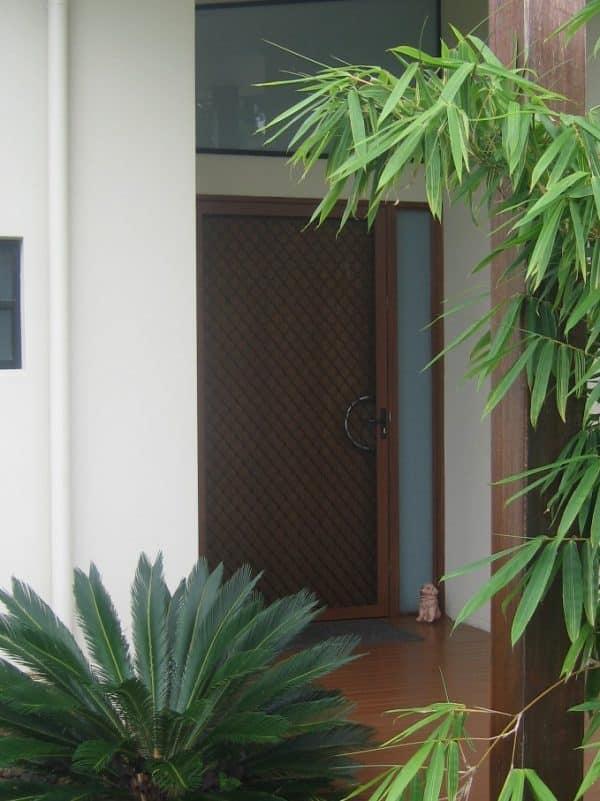 diamond grille security door on front door