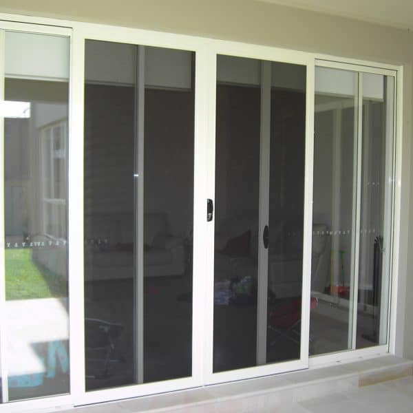 Double sliding security doors